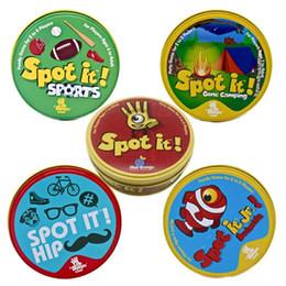5 versions Spot It Jeu de cartes Spot classique / Camping / Animal / Sport / Hanche Famille Jeu de divertissement Jeu de jouets pour garçons Cadeau de filles ? partir de fabricateur