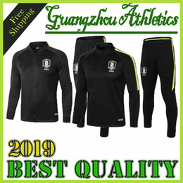 2020 südkorea jacke 2018 2019 Südkorea Fußball-Trainingsnazug-Satz-Fußballjacke Trainingsanzug survêtement Chandal Custom Name S Y KI H M SON günstig südkorea jacke