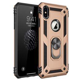 2019 silicone iphone minions Etui de support d'aspiration magnétique pour LG Stylo 5 4 Aristo 3 pour Samsung A6 A8 A9 2018 Plus anneau de support antichoc solide avec rotation à 360 °