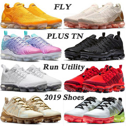 Sports de plein air à tricoter gym en Ligne-des chaussures NIKE AIR VAPORMAX PLUS GRANDE TAILLE US 13 TN baskets femmes hommes Designer Sneakers 2020 Stock x Running Shoes for Mens Womens OFF white Pastel Pink speed Trainers