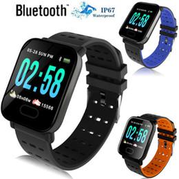 Telefone ao ar livre xiaomi on-line-A6 pulseira smart watch tela de toque smartwatch telefone com monitor de freqüência cardíaca ao ar livre esporte correndo calorias pk xiaomi banda
