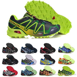 Zapatos través funcionamiento de velocidad online-Salomon Speed Cross 3 CS Zapatillas para correr Hombres Mujeres SpeedCross Zapatillas de deporte para caminar al aire libre Negro Blanco Azul Rojo Zapatilla de entrenamiento de diseñador Tamaño 36-46