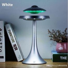 Orador de levitação on-line-Levitação candeeiro de mesa LED com UFO Bluetooth alto-falante ímã falante flutuante com luz RGB para hotel