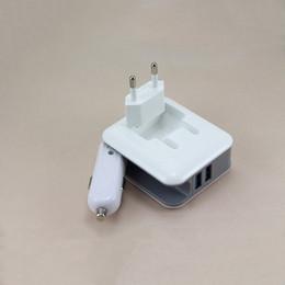 2019 universal-ladegerät 2in1 Compact Ladegerät Auto Konverter Dual USB Port 5V 2.1A Schnellladung Folding Home Reiseladegerät AC / DC Netzteil günstig universal-ladegerät