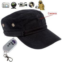Caméras enregistreurs de corps en Ligne-Couleur noir corps usure 720p HD Hat Cap caméra DVR enregistreur vidéo avec télécommande, soutien max. 32 Go