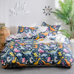 2019 bunte tierdruck bettwäsche Niedliche Bettwäsche Set Bettwäsche Set für Kinder weiche bunte Animal Print Bettbezug Kissenbezug Single Twin Double Queen King Size rabatt bunte tierdruck bettwäsche