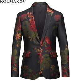 Deutschland KOLMAKOV New Fashion Blazer Herren Jacken Slim Fit Mäntel Herren Vintage Style Kleid Masculino Plus Größe M-6XL für große große Männer cheap dresses tall sizes Versorgung