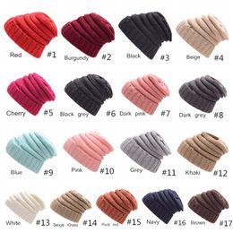 ad4583b48bca3 Bonnets Chapeaux Tricotés Bonnet De Mode Visière Coupe Filles Femmes Hiver  Chapeau Chaud Tisser Gorro Chapeau Casual Bonnets 17 Couleurs bonnet de  visière ...