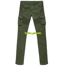 2019 pantalones largos para hombre Moda para hombre Pantalones de alta calidad para hombre tendencia plisado estiramiento Jeans hombres diseñador Jeans Multi-bolsillo estiramiento autocultivo monos pantalones largos para hombre baratos