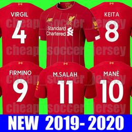 335c61507cdb2 2019 camisolas da tailândia Top tailândia camisa de futebol Liverpool 2019  2020 SALAH KEITA VIRGIL FIRMINO