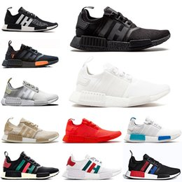 2da1f6f0fa881 HOT SALE nmd R1 Running Shoes For Men Women Nmds Runner Primeknit PK OG  Triple Black Sports Sneakers Luxury Designer Shoes Size 36-45 discount nmd  r1 triple ...
