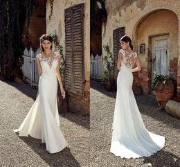 9974104c77b4 2019 designer abiti da sposa bohemien Plus Size 2019 New Designer Beach  Mermaid Abiti da sposa