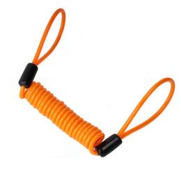 Противоугонный кабель велосипед онлайн-1.2m Cable Bicycle Lock Rope Anti-theft Motorbike Disc Lock Security Reminder Motorcycle Safety Parts Accessories