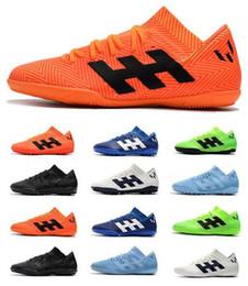 zapatos de fútbol de interior messi Rebajas 2019 Nuevo ACC Hombres Nemeziz Messi Tango 18.4 IC TF Césped de fútbol Botines de fútbol para interiores Botas altas de fútbol para la copa mundial Zapatos de fútbol para la copa mundial