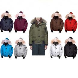 parka de inverno verde feminino Desconto Revestimento morno novo estilo descontraído Top Quality Canada Designer Jacket Homens e Mulheres com capuz Fur Windbreaker Parka Outdoor revestimento morno para baixo