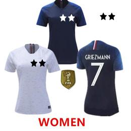 2018 WOMEN maglia da calcio POGBA world cup GRIEZMANN MBAPPE KANTE GIROUD maglie da calcio 18 19 home away maglie femmes maillot de foot da