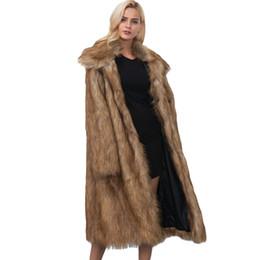 Autumn Winter Fur Coat Women 2018 Long Sleeve Jacket Coat Warm Loose Thick Lengthen Faux Fur Outerwear Plus Size 3XL N361 от Поставщики вязать длинную шубу из кролика