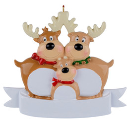 Canada Reindeer Family Of 3 Resin Hanging Personalized Christmas ornaments As For Holiday or New Year Gifts Offre