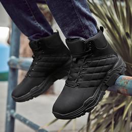 Hommes Lace Up Top Haut hiver chaud Chaussures Casual respirant Bottes cheville pour extérieur K BEST