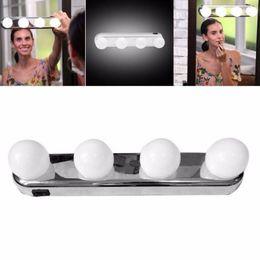 2019 isolierfolienpapier 4 led-lampen tragbares studio bilden licht super helle kosmetische spiegel licht kit batteriebetriebene make-up licht