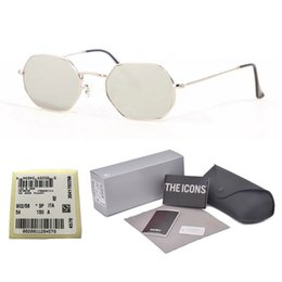 yellow sun glasses for men Coupons - Excellent Quality Octagonal Sunglasses For Men Women Brand Designer Metal Frame Glass Lens Retro Sun Glasses with free Retail box and label