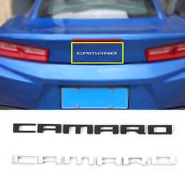 2020 emblemas do carro adesivos chevrolet Letras de carro Emblema Decoração Capa Adesivos de Metal Acessórios Exterior Para Chevrolet Camaro 2017 Up Car Styling emblemas do carro adesivos chevrolet barato