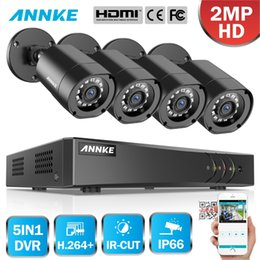 4ch h 264 dvr онлайн-ANNKE 1080 P H.264 + 4CH CCTV Камеры DVR Система 4шт. IP66 Водонепроницаемый 2.0MP Камеры Комплект Домашнего Видео Безопасности CCTV