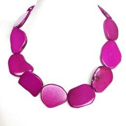 2019 ярко-розовый колье Бесплатная доставка ярко-розовый ожерелье, мода воротник чокер популярное ожерелье дешево ярко-розовый колье