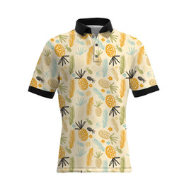 T-shirt großer größenmann online-19SS New Style Ananas Druck Männer Casual Polo Shirts Hot Sellers GROßE GRÖßE Herren Designer T Shirts Lose Version
