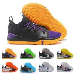 Sapatas alaranjadas do brilho on-line-2019 Novo EP Tênis De Basquete Mamba Dia Vela Lobo Cinza Laranja Multicolor Tênis Mens Basketball Shoes Tamanho 7-12