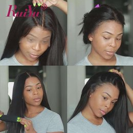 black indian babies Coupons - 360 Full Lace Frontal Wig Pre Plucked Hairline With Baby Hair Straight Lace Front Human Hair Wigs For Women Ruiyu Peruvian Remy Hair
