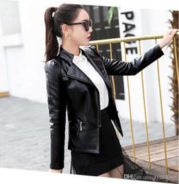 Fan Bingbing con il paragrafo] versione coreana della giacca corta in pelle PU 2018 primavera e autunno nuova manica lunga sottile sottile moda lea cheap fan bingbing da fan bingbing fornitori
