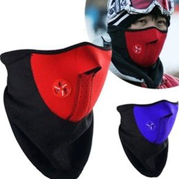 face mask fleece cover Coupons - face mask Outdoor Bike Bicycle Motorcycle Half Face Fleece Fabric Warm Winter Cyling Cap Cover Neck Guard Scarf Headwear Masks