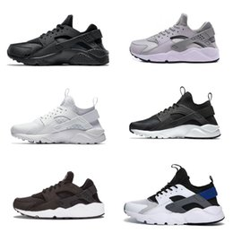 Marke frauen luft turnschuhe online-2020 neue Entwurfs-Huarache 1.0 4.0 Men Laufschuhe Cheap Air Streifen-roter Balck Weiß Blau Rose Gold-Marken-Frauen Huaraches 4 5 Outdoor-Sneaker