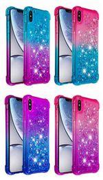 2019 модели мобильных телефонов sony ericsson Ударопрочный мягкий чехол ТПУ для Iphone XR XS MAX Quicksand Градиент Bling Жидкий чехол для Samsung S10e S10 plus S9 S8 чехол