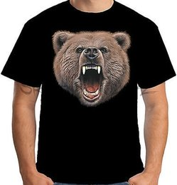 2019 shirt grizzly Maglietta Velocitee Mens Bear Bite Big Animal Head Face Evil Grizzly Bad t-shirt da uomo cool casual tee shirt sbz5053 shirt grizzly economici