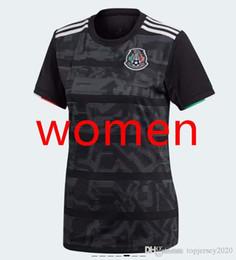 Senhoras longas jersey on-line-Thai 2019 México Mulheres camisas de futebol 19 20 camisa de futebol Chicharito Layun CHUCKY senhora Camisa G DOS SANTOS Camisas de futebol de manga comprida