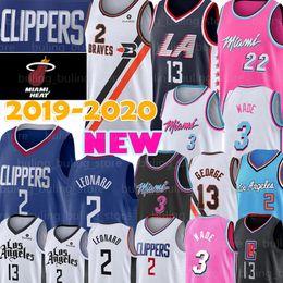 2019 baloncesto paul NCAA Kawhi Leonard Jersey 2 Dwyane Wade Jersey 3 Paul George 13 22 Jimmy Butler, jerseys del baloncesto de la universidad de bordado baloncesto paul baratos