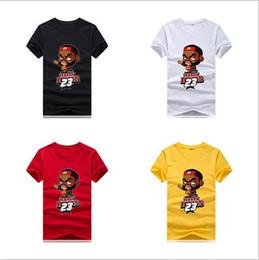 camiseta de animación Rebajas 2019 nuevo diseñador camiseta deportiva camiseta de los hombres animación 3D baloncesto estrella camiseta 100% algodón al aire libre camisa de la actividad al por mayor s-5xl