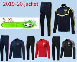 2019 ARSEN vermelho azul MKHITARYAN Jaqueta conjunto FUTEBOL JERSEYS 19 20 OZIL ARSEN homens negros TORREIRA XHAKA verde jaqueta de treinamento ternoS-2XL de