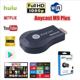2019 adaptador hdmi android HD TV Vara AnyCast M9 Plus para Chromecast Youtube Netflix 1080 P sem fio Wi-Fi Display Dongle Receptor DLNA Miracast para Telefone DHL