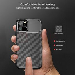 Amortecedor da fibra do carbono do iphone on-line-Capa Para Carbon Fiber Iphone 11 da tampa do caso de Luxo Bumper Phone Case Capa Para Iphone11 11 Pro Max