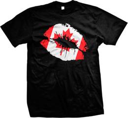 Пользовательские сексуальные трикотажные изделия онлайн-Канада флаг сексуальные губы Поцелуй канадская гордость Олимпийские игры Мужские футболки тройники пользовательские Джерси футболка
