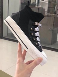 noms de créateurs de chaussures Promotion Nouveau Designer Nom Marque Homme Casual Chaussures Plat Kanye West Mode Ridé En Cuir À Lacets Low Cut Baskets Runaway Arena Chaussures df0718