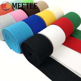 La corda piatta elastica a doppia faccia di meetee 3.8cm di fai da te ha colorato la cinghia della cinghia della cinghia della cinghia di colore da