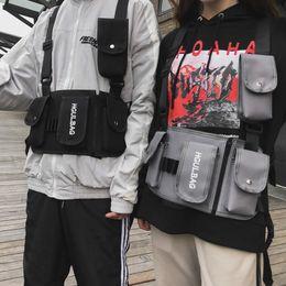 2019 saco tático da mulher Homens Saco Rig Bag Mulheres Hip Hop Ombro Crossbody Homem Tactical Vest Chest Preto Streetwear Sacos Kanye West Cintura Pack 510 saco tático da mulher barato