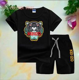 2019 teste padrão do bodysuit das meninas Conjuntos de crianças 1-8 T Crianças T-shirt e Calças Curtas 2 Pçs / sets 8 Cores Crianças Conjuntos de Esportes Do Bebê Das Meninas Dos Meninos 95% Conjuntos de Verão de Algodão