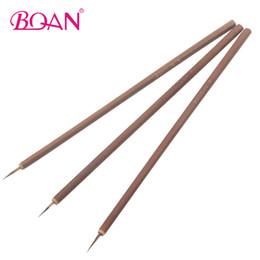 100 adet Çanta Çakal Saç Fırçası Bambu Saplı Fırça Nail Art Resim Fırçalar Tırnak Astar Sanat Araçları nereden