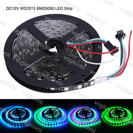 tira de color mágica led impermeable Rebajas Tira de LED DC12V WS2813 5050 SMD 30leds / m 60leds / m RGB Cinta de LED 5 M Sueño mágico Sueño Color cambiable Efectos impermeable DHL