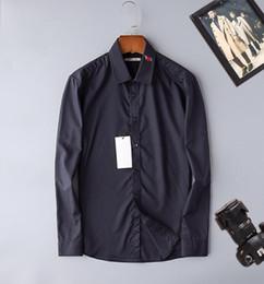 2019 camisas de gaze homens Projetado camisa dos homens-2019 novos homens de negócios camisa casual série de gaze de algodão bordado moda M-3XL desconto camisas de gaze homens